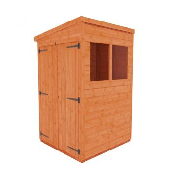 Redlands 4' x 4' Double Door Shiplap Modular Pent Shed
