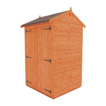 Redlands 4' x 4' Double Door Windowless Shiplap Modular Apex Shed