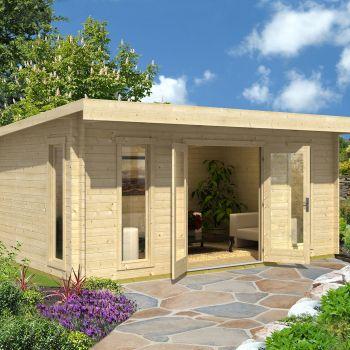 Greenway 5.2m x 3.4m Carrick Log Cabin