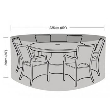 Protector - 6 Seater Circular Patio Set Cover - 225cm