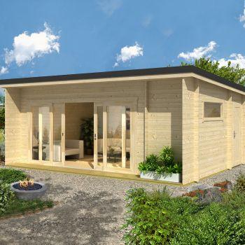 Greenway 6.08m x 3.9m Selwood Log Cabin