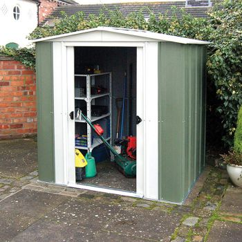 Rowlinson 8' x 6' Double Door Apex Metal Shed