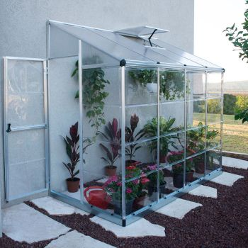 Palram 4' x 8' Lean To Silver Greenhouse
