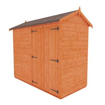 Redlands 4' x 8' Double Door Windowless Shiplap Modular Apex Shed