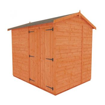 Redlands 6' x 8' Double Door Windowless Shiplap Modular Apex Shed