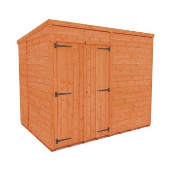 Redlands 6' x 8' Double Door Windowless Shiplap Modular Pent Shed
