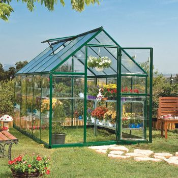 Palram 6' x 10' Nature Hybrid Green Polycarbonate Greenhouse