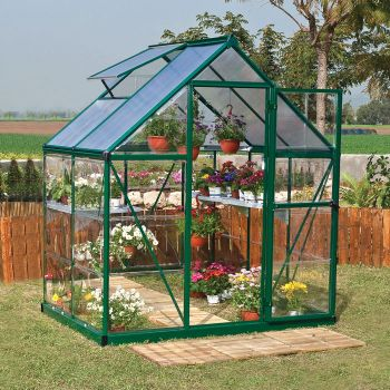Palram 6' x 4' Nature Hybrid Green Polycarbonate Greenhouse