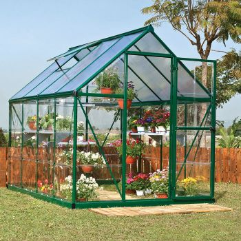 Palram 6' x 8' Nature Hybrid Green Polycarbonate Greenhouse