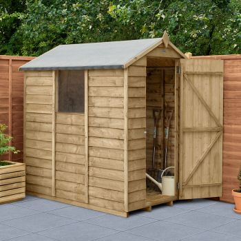 Hartwood 4' x 6' Overlap Pressure Treated Apex Shed