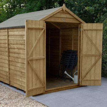 Hartwood 8' x 6' Windowless Double Door Overlap Pressure Treated Apex Shed
