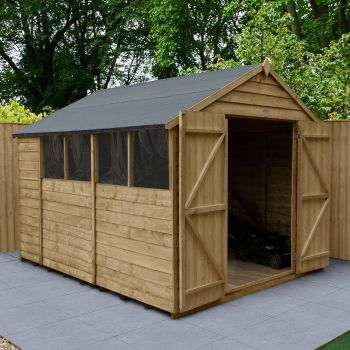 Hartwood 8' x 10' Double Door Overlap Pressure Treated Apex Workshop
