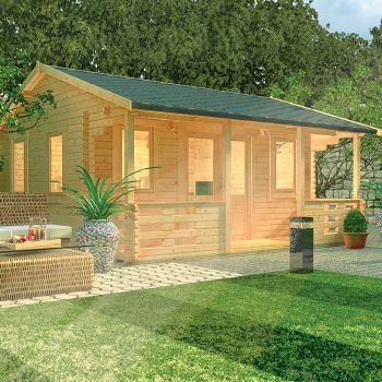Redlands 5.4m x 4.2m Prestwick Log Cabin