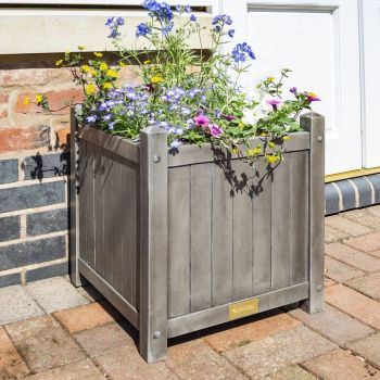 Rowlinson Alderley Grey Square Planter