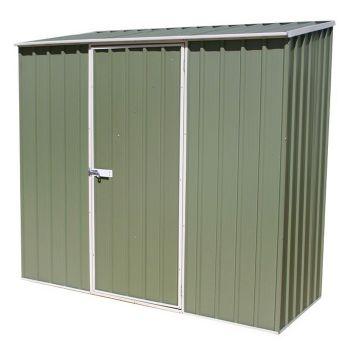 Adley 7' x 3' Green Titanium Pent Metal Shed
