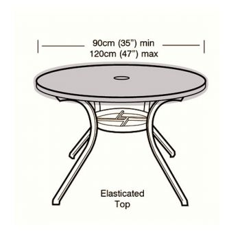 Cover Up - 4/6 Seater Circular Table Top Cover - 90 - 120cm