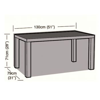 Cover Up - 4 Seater Rectangular Table Cover - 130cm