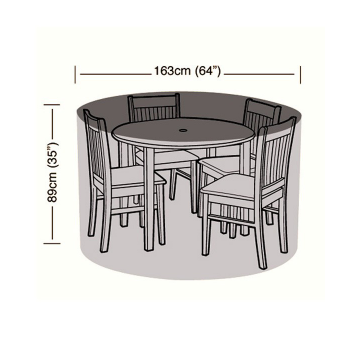 Protector - 4 Seater Circular Patio Set Cover - 163cm