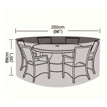 Cover Up - 6/8 Seater Circular Patio Set Cover - 250cm