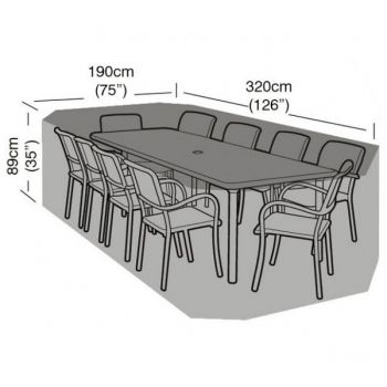 Cover Up - 8/10 Seater Rectangular Patio Set Cover - 320cm