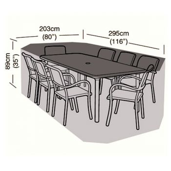 Cover Up - 8 Seater Rectangular Patio Set Cover - 295cm