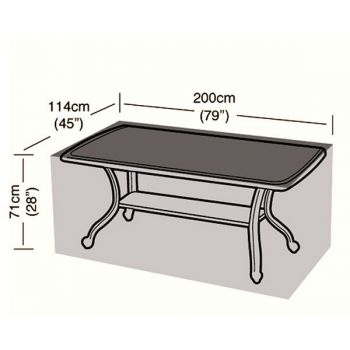 Cover Up - 8 Seater Rectangular Table Cover - 196cm