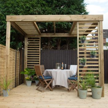 Hartwood Dining Pergola With Panels
