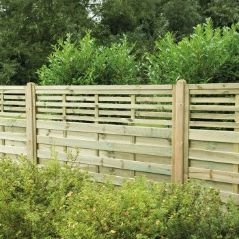Hartwood 5' x 6' Horizontal Weave Fence Panel With Slatted Top