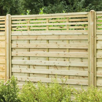 Hartwood 6' x 6' Horizontal Weave Fence Panel With Slatted Top