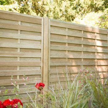 Hartwood 5' x 6' Horizontal Weave Fence Panel