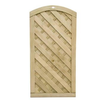 Hartwood 6' x 3' Weave Curved Gate