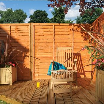 Rowlinson 6' x 6' Lap Fence Panel