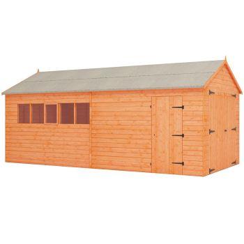 Redlands 10' x 20' Shiplap Apex Wooden Garage