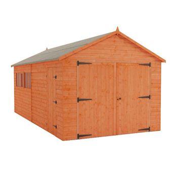 Redlands 10' x 18' Shiplap Apex Wooden Garage