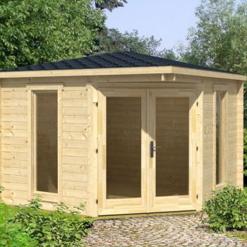Greenway 2.8m x 2.8m Ashdown Corner Log Cabin