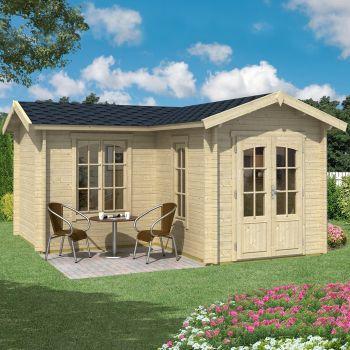 Greenway 4m x 4m Newborough Log Cabin