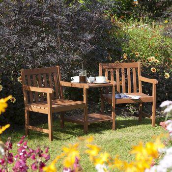 Rowlinson Hampton Companion Garden Seat