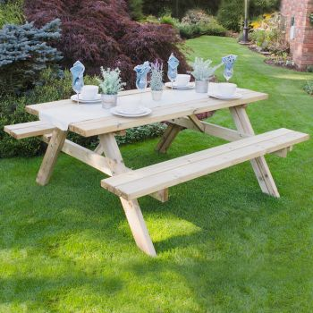 Hartwood Large Rectangular Picnic Table