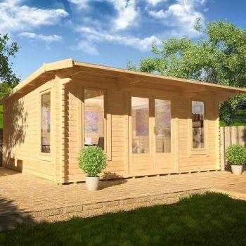 Redlands 5.4m x 4.2m Birkdale Log Cabin