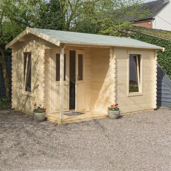 Rowlinson 4.2m x 3.3m Garden Office Log Cabin
