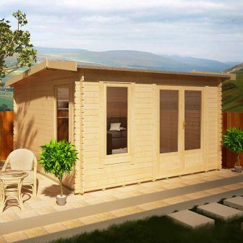 Redlands 3.6m x 3m Merion Log Cabin