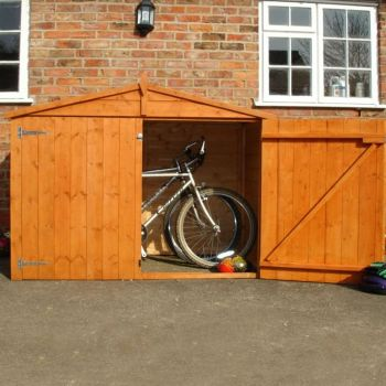 Loxley 6' x 3' Shiplap Apex Bike Shed - No Floor