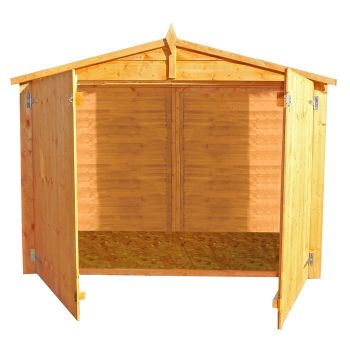 Loxley 6' x 3' Shiplap Apex Bike Shed - With Floor
