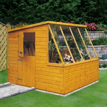 Loxley 8' x 8' Shiplap Potting Shed - Right Sided