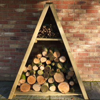 Loxley Large Tongue and Groove Triangular Log Store