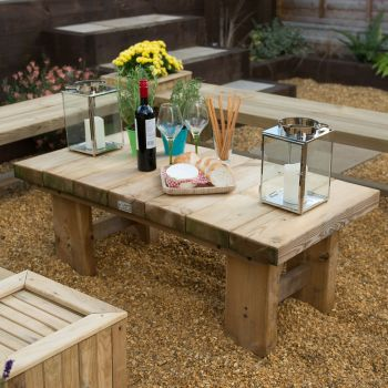 Hartwood Large Low Sleeper Garden Table