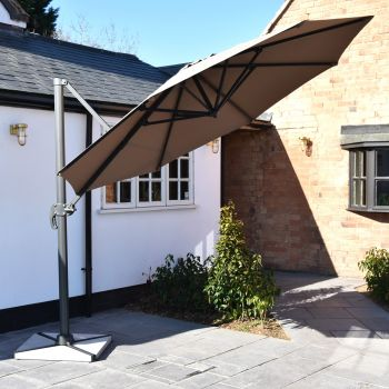 Oren 3m Cantilever Parasol with Granite Base - Taupe
