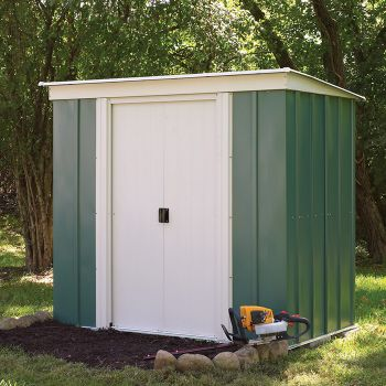 Rowlinson 8' x 4' Double Door Pent Metal Shed