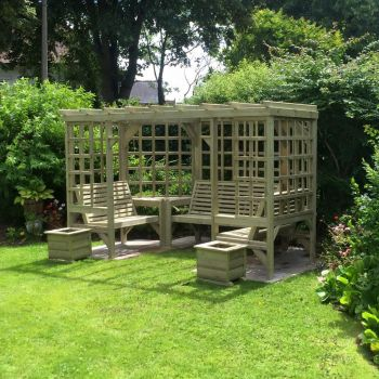 Moorvalley Full Trellis Seated Pergola
