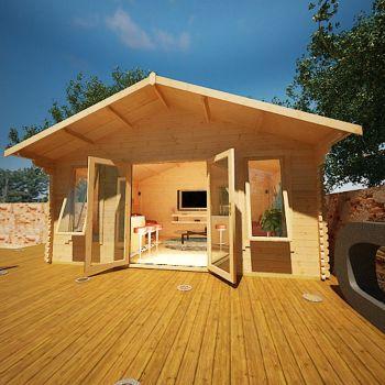Redlands 5.4m x 3.6m Muirfield Log Cabin
